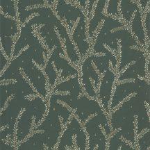 Caselio La Foret 102947719 LITTLE WOODS Natur Botanikus finoman rajzolt ágak khakizöld bézs bézsarany zöld tapéta