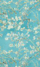 BN Van Gogh 2, 17140 Natur virágos mandulavirágzás kék türkiz bézs zöld tapéta