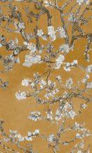 BN Van Gogh 2, 17146  Natur virágos mandulavirágzás okkersárga bézs barna krémfehér tapéta