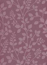 Erismann Cassiopeia 1774-16  Natur ágak levelek borvörös mályva tapéta