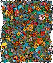 Dc-fix 200-3006  Glass Venetian Garden szines ólomüveg mintájú öntapadó üvegtapéta