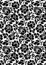 Dc-fix 200-3098 Dekor Barokkmintás fehér fekete öntapadó fólia