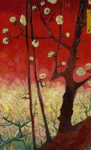 BN Van Gogh 2, 200327 Natur virágos festett ágak virágok piros szines falpanel