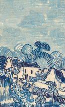BN Van Gogh 2, 200332 Natur etno németalföldi életkép kék árnyalatok fehér falpanel