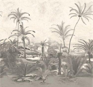 BN Panthera 200352 natur idilli trópusi csendélet krém bézs szürke szürkésbarna falpanel