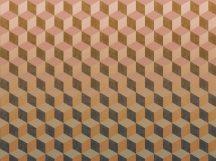 BN Cubiq 200418 FADING CUBE Geometrikus 3D térbeli kockák halmaza rózsaszín vanília sárga narancs szürke sötétszürke függőleges színátmenet falpanel
