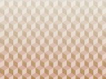 BN Cubiq 200420 FADING CUBE Geometrikus 3D térbeli kockák halmaza krém bézs nyersszín rózsaszín sárga függőleges színátmenet falpanel