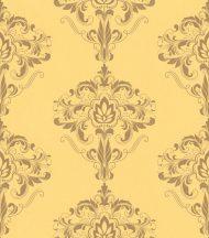 Rasch Sansa 214819  Klasszikus barokk mintázat sárga arany fényes mintafelület tapéta
