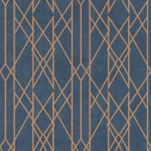 Rasch Sansa 215144  Grafikus skandináv minta sötétkék arany tapéta