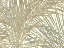 BN ZEN 218742 PALM LUST Natur trópusi nagyméretű pálmalavelek krém bézs zöldes sárga szürkészöld tapéta