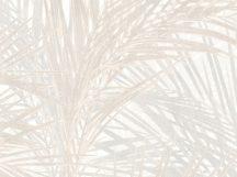 BN ZEN 218743 PALM LUST Natur trópusi nagyméretű pálmalavelek krém bézs szürkésbézs tapéta