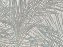 BN ZEN 218744 PALM LUST Natur trópusi nagyméretű pálmalavelek krémszürke bézs szürke árnyalatok ezüstszürke tapéta
