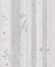 BN Smalltalk 219271 fák állatok fehér szürke bézs tapéta