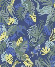 BN #Smalltalk 219300 trópusi dzsungel kék sárga zöld tapéta