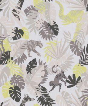 BN #Smalltalk 219301 trópusi dzsungel krém sárga barna  tapéta