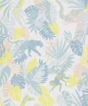 BN #Smalltalk 219303 trópusi dzsungel krémfehér kék sárga tapéta