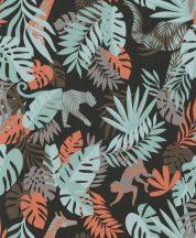 BN #Smalltalk 219304 trópusi dzsungel fekete mentazöldnarancs  tapéta