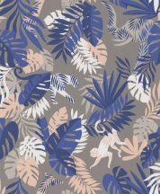BN #Smalltalk 219305 trópusi dzsungel szürkésbarna kék tapéta