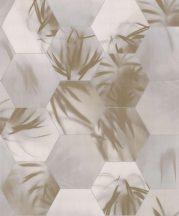 BN Finesse Dimensions 219571 trópusi geometrikus ecru bézs szürke barna ezüst tapéta
