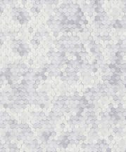 BN Finesse Dimensions 219580 Geometrikus hatszökek színátmenettel fehér szürke tapéta