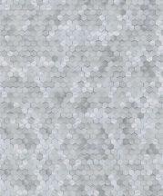BN Finesse Dimensions 219583 Geometrikus hatszökek színátmenettelszürke zöldes szürke tapéta