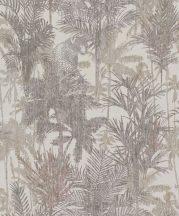 BN Panthera 220102  botanikus trópusi növények vadállatok bézs barna zöld szürkésbarna tapéta
