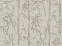 BN ZEN 220322 BAMBOO GARDEN Natur Botanikus bambuszliget nyersszín szürke szürkésbézs fehér finom fémes fény tapéta