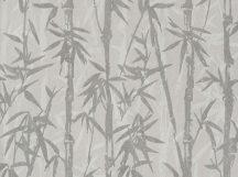 BN ZEN 220323 BAMBOO GARDEN Natur Botanikus bambuszliget szürke ezüstszürke fehér finom fémes fény tapéta