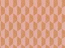 BN Cubiq 220352 Geometrikus 3D szembefordított trapézok rózsaszín narancs tapéta