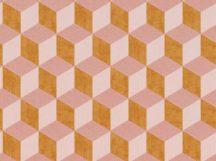 BN Cubiq 220361 Geometrikus 3D térbeli kockák halmaza rózsaszín narancs tapéta