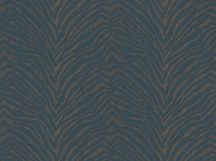BN Grand Safari 220533 ZEBRA CROSSING Natur Zebracsíkos minta petrolkék okker/aranysárga fémes hatás tapéta