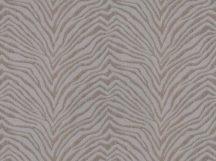 BN Grand Safari 220534 ZEBRA CROSSING Natur Zebracsíkos minta barna ezüstszürke fémes hatás tapéta