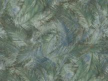 BN Grand Safari 220561 GREENERY Natur Trópusi levelek zöld árnyalatok kék törtfehér tapéta