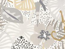 BN Doodleedo 220720 HIDE AND SEEK Gyerekszobai nagymacskák bújócskáznak a dzsungelben fehér bézs szürke ezüst antracit tapéta