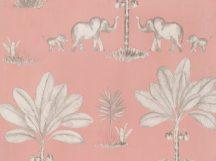 BN Doodleedo 220750 IT TAKES TWO Gyerekszobai Dzsungel kettőn áll a vásár rózsaszín szürke fehér tapéta