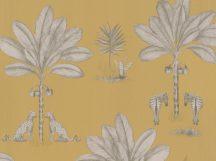 BN Doodleedo 220753 IT TAKES TWO Gyerekszobai Dzsungel kettőn áll a vásár arany/vaníliasárga szürke fehér tapéta