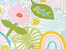BN Doodleedo 220771 STRAWBERRY FIELDS Gyerekszobai eperföld fehér eperszín zöld szines tapéta