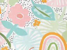 BN Doodleedo 220772 STRAWBERRY FIELDS Gyerekszobai eperföld fehér rózsaszín szines tapéta