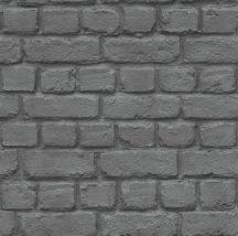 Rasch Kidsclub 2014/Kids & Teens III, 226744 Natur meszelt téglafal 3D sötétszürke fekete tapéta
