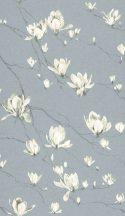 Rasch Textil Jaipur 227528  ágak virágok kék krémfehér ezüstszürke tapéta