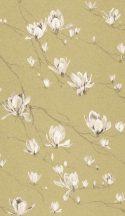 Rasch Textil Jaipur 227559  ágak virágok aranysárga krémfehér tapéta