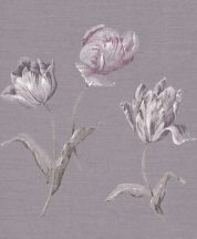 Rasch Textil Jaipur 227566 virágos szürkéslila szürke fehér eperszín tapéta