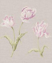 Rasch Textil Jaipur 227580 virágos krémszürke eperszín fehér zöld tapéta