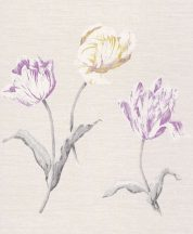 Rasch Textil Jaipur 227603  virágos krémszürke aranysárga szürke lila tapéta