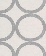 Rasch Textil Aristide 228136 Design geometrikus körök szürkésfehér ezüst fényes szinezés tapéta