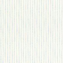Rasch Bambino XVIII 249132 gyerekminta sok kis háromszög csíkba rendezve fehér kék tapéta