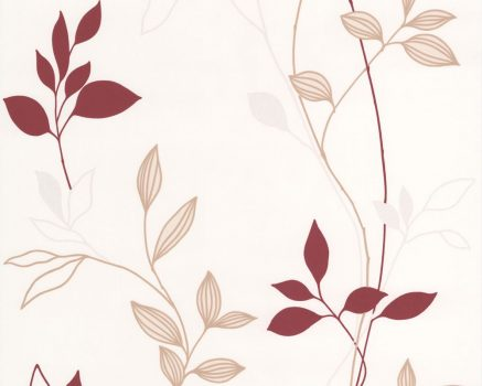 As-Creation Avenzio 4,  2497-39  Modern virágmintás krém barna piros tapéta