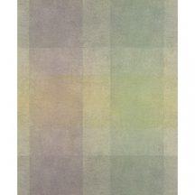 Casadeco Atelier 25897126 CARRE VERT Geometrikus nagyformátumú négyzetek zöld lila sárgászöld árnyalatok tapéta