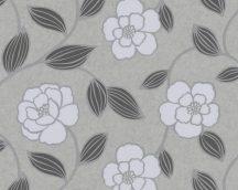 As-Creation Kaja 2849-38 Virágos grafikus mintarajzolat szürke ezüst tapéta