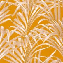 Casadeco 1930, 28922318  FOUGERES Natur stilizált nóvényi díszítés páfrányok aranysárga krémfehér bézs fényló mintarajzolat tapéta